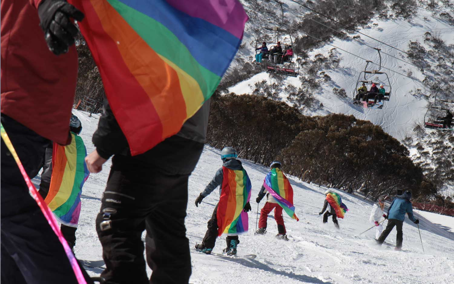 Gay Ski Week Australia Rainbow Run