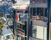Rainbow Pride at Frueauf Village for Gay Ski Week Australia