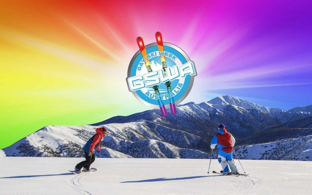 Gay Ski Week Australia Rainbow Ski Background